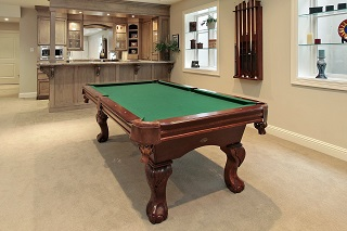 Suggested pool table room sizes in Bartlesville pool table movers.